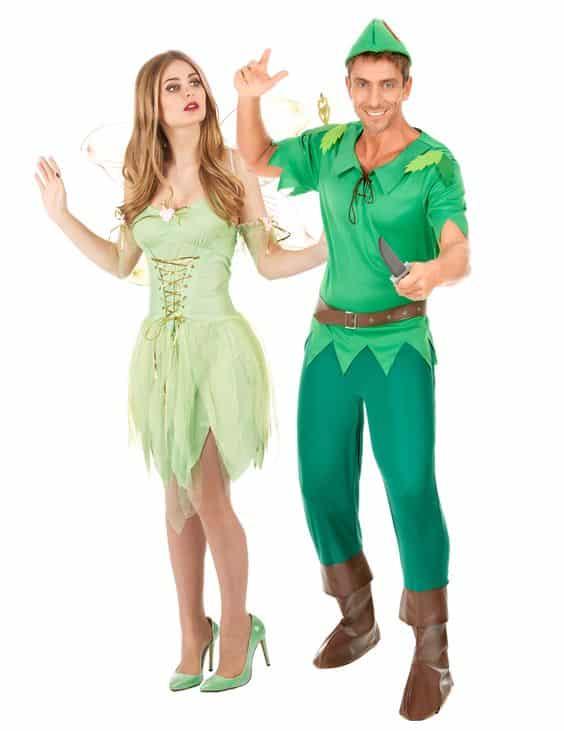 Couple Peter Pan et Clochette