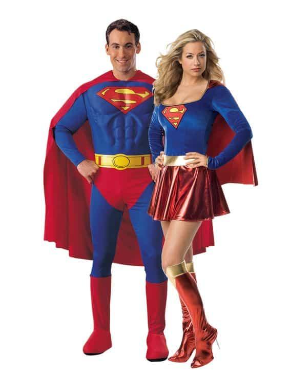 Couple superman et superwoman