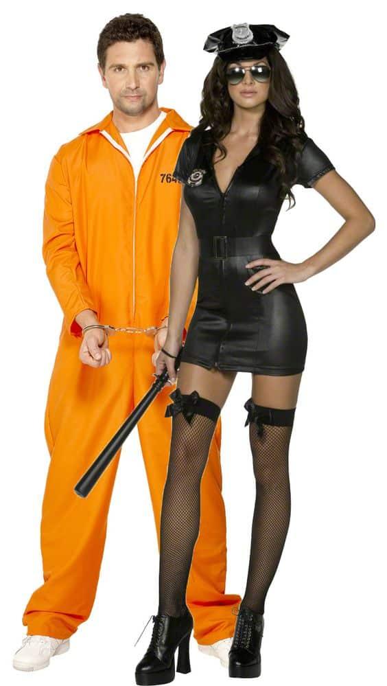 Couple prisonnier et policière
